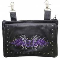 Studded Belt Bag with Purple & Si..