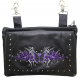 Studded Belt Bag with Purple & Silver Butterfly