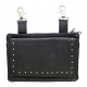 All Leather Black Studded Belt Bag