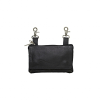 Black All Leather Belt Bag