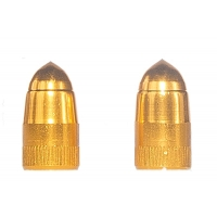 Two Gold Bullet Tire Valve Stem C..
