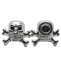 Two Chrome Skull & Cross Bones Ti..
