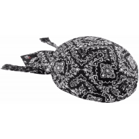 Biker Head Wrap Black Paisley