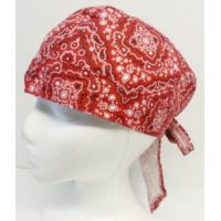 Biker Head Wrap Red Paisley