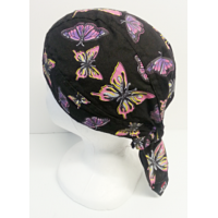 Biker Head Wrap Black with Butter..