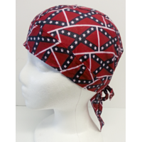 Biker Head Wrap Rebel Flags