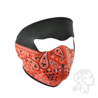 Full Mask, Neoprene, Red Paisley ..
