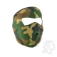 Full Mask, Neoprene, woodland Camouflage
