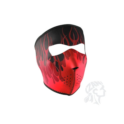 Full Mask, Neoprene, Red Flames