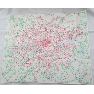 London Buses Map 1979