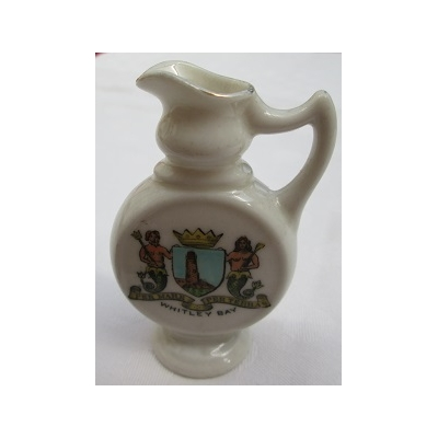 Crested China Jug - Whi..