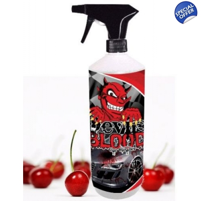 1 Litre Cherry Devils Blood Car Paint, Glass And Wheel Cleaner Iron Remover X title=
