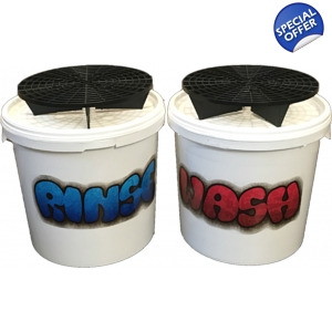 Wash & Rinse Two Bucket Set With Grit ..