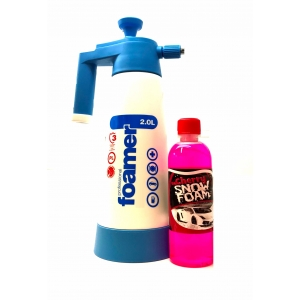 2L Snow Foam Pump Compression Spray Bottle. Includes Snow Foam