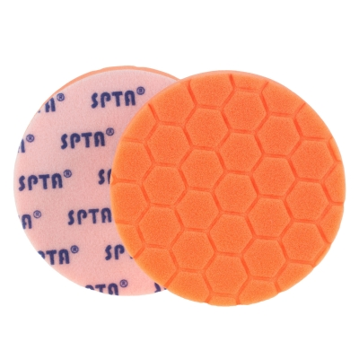 5'' VP Medium Orange Hex Pad Sponge, For Use With VP3 and VP1 Compound title=
