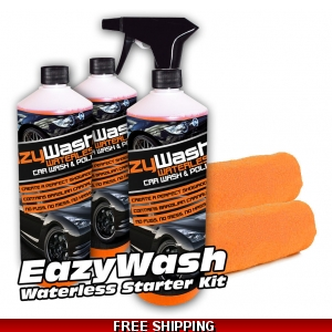 3 X 500ml EazyWash Waterless Car Wash ..