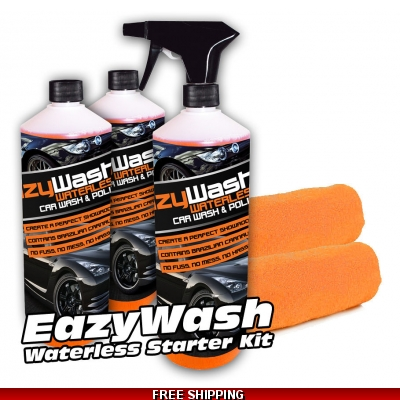 3 X 500ml EazyWash Waterless Car Wash For A Showroom Shine title=