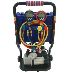 Refrigeration Kit - Vacuum Pump + Manifold + Digital Scale