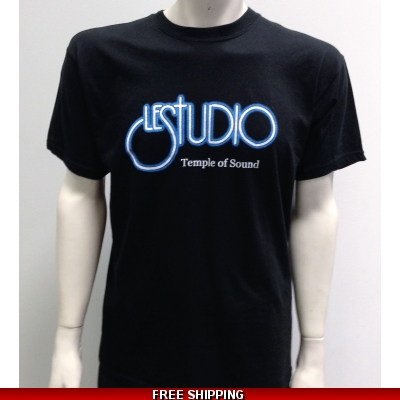 Le Studio Black Shirt {White & Blue Front Logo}