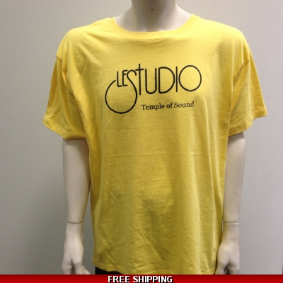 Le Studio Yellow shirt Black Front Logo