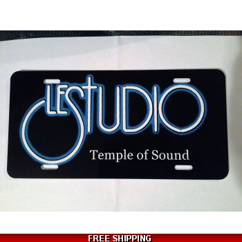 Le Studio License Plates Black White & Blue Logo TOS