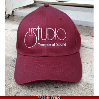 Le Studio Marron Baseball Hat White Front Logo TOS