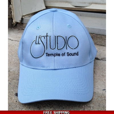 Le Studio Light Blue Baseball Hat White Front Logo TOS