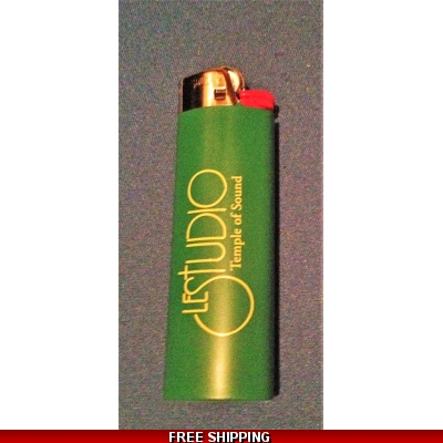 Le Studio Green Bic Lighter Yellow  Front Logo  Tos
