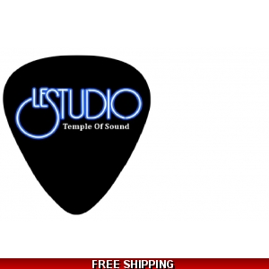 Le Studio Guitar Picks Black white & Blue  Logo N/C TOS