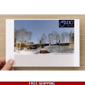 Le Studio Post Card Winter Lake Perry