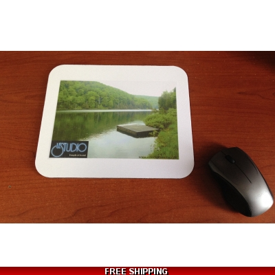 Le Studio White Mouse Pad  Lake Perry