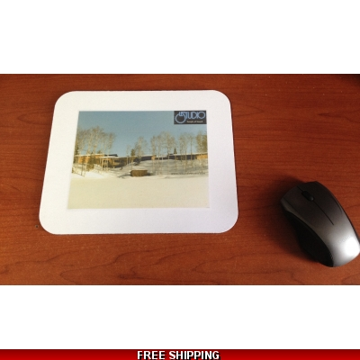 Le Studio White Mouse Pad Winter Lake Perry