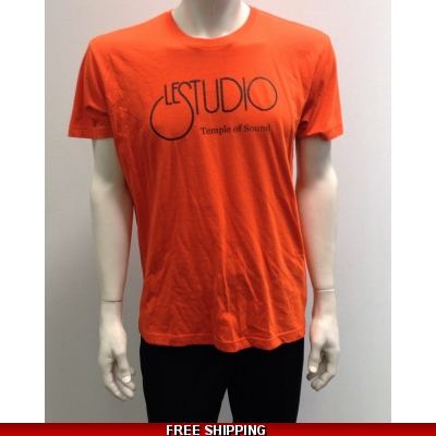 Le Studio Orange Shirt {Black Front Logo} N/C
