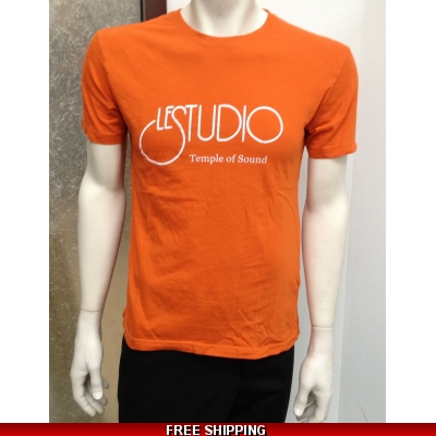 Le Studio Orange Shirt {White Front Logo} N/C