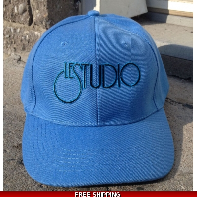 Le Studio Light Blue Baseball Hat B & B Front Logo  N/C