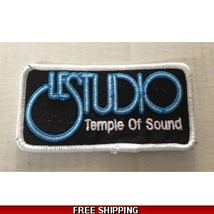 Le Studio Embroidered Patches W & B  W Rim Front Logo TOS