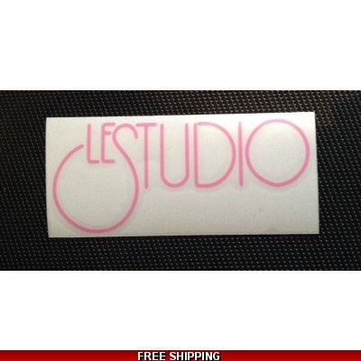 Le Studio soft pink Decals 5 X 2 1/2