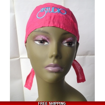 Hot Pink Bandana Hat White &..