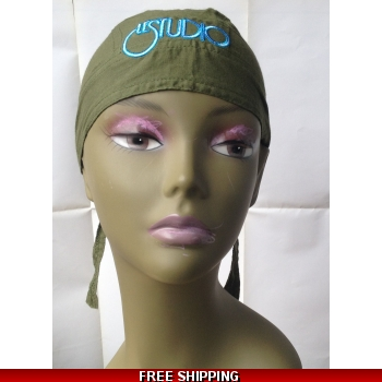 Light Army Green Bandana Hat..