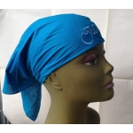 Teal Bandana Black & Blue Embroid Front Logo