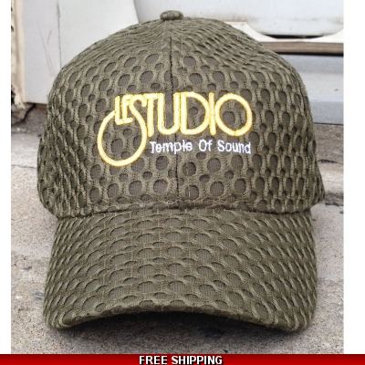 Le Studio Dark Army Green A Baseball Hat W & Y  Front Logo TOS