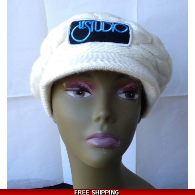 White Woman Winter Cap W & B Front Logo