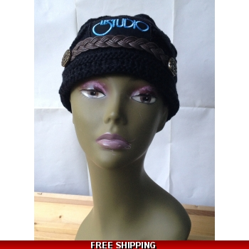 Black Woman Winter Hat W & B..