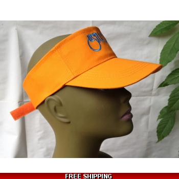 Unisex Orange Sun Visor Hat ..