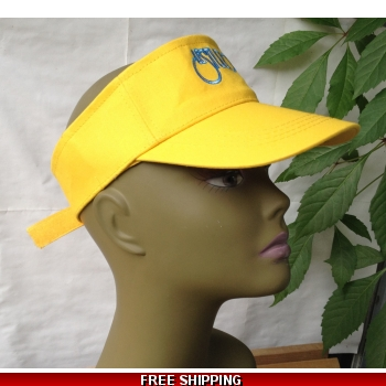 Unisex Yellow Sun Visor Hat ..