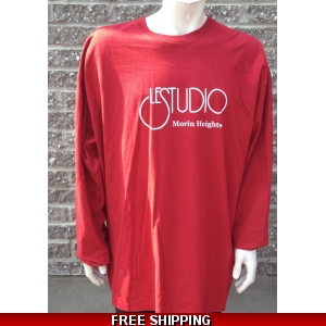 Le Studio Red Long sleeve {White Front Logo} M-H