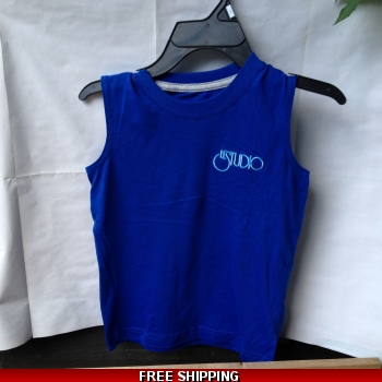Royal Blue Kid Tank Top Whit..