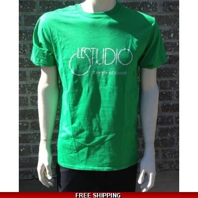 Le Studio Irish Green Shirt {White Front Logo}
