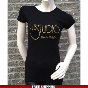 Girlie Black Round-Neck Gold..