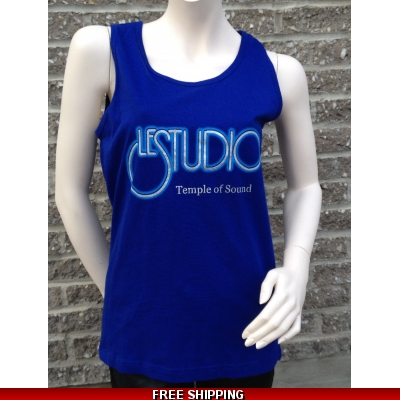 Woman Blue Tank Top Silver & Blue Front Logo TOS